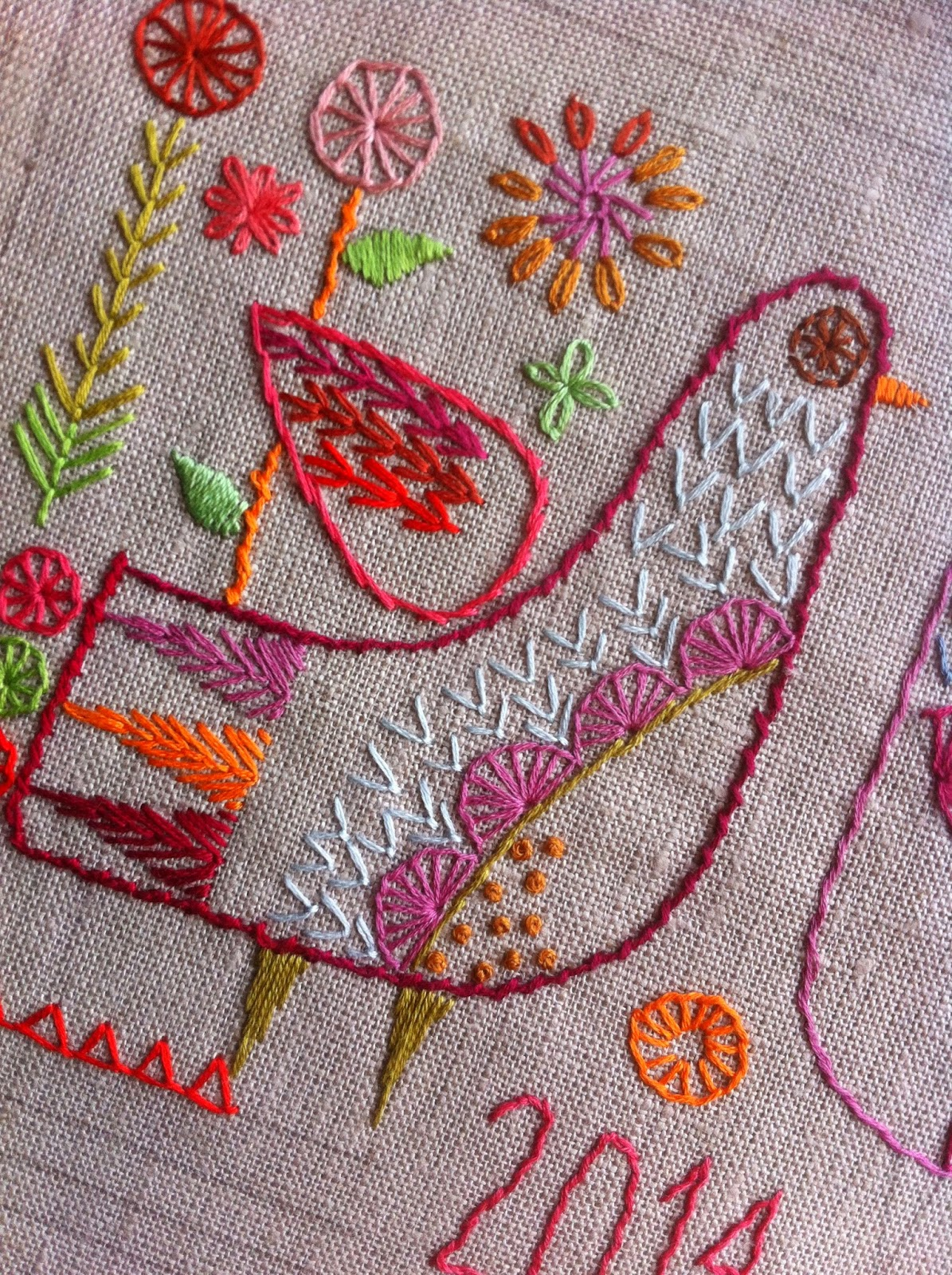 Hand embroidered Sampler download