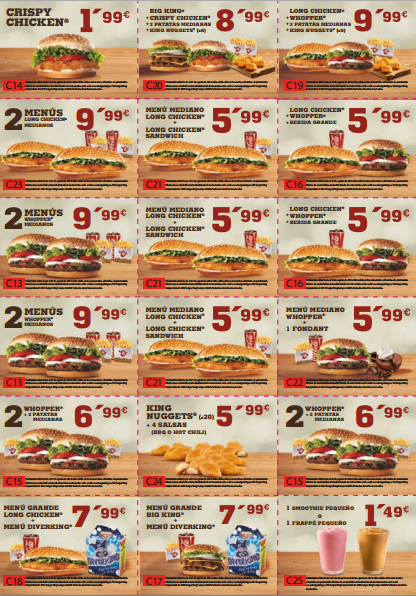 Cupones descuento Burger King verano 2013