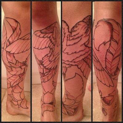 Tatuagens Femininas Panturrilha