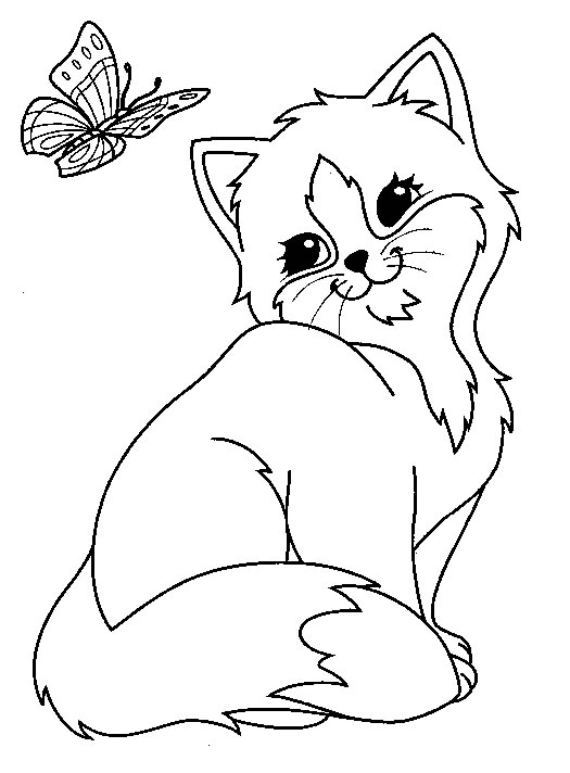 Free coloring pages of no cat - Chat a colorier ...