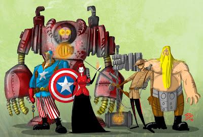 Steampunk Avengers Steampunk Vingadores