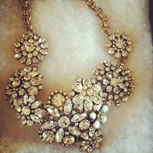 j_crew flower lattice necklace crystal