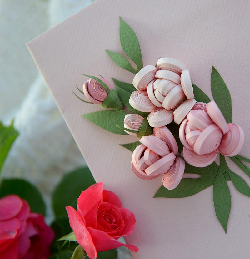 Украшение цветок на открытке 286
