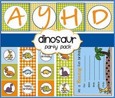 Simpático Kit de Dinosaurios para Imprimir Gratis.
