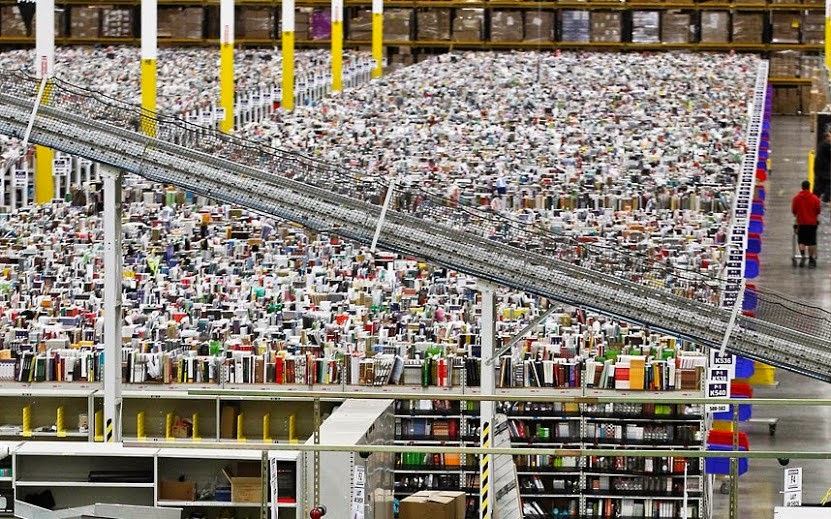 Amazon's warehouse, signs of Products Availability Online