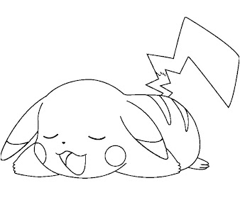 #12 Pikachu Coloring Page