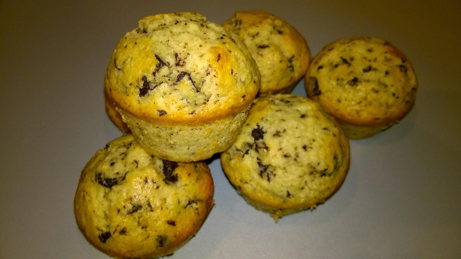 Muffin noix de coco, chocolat