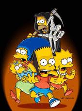 Calaverita de los Simpsons día de muertos