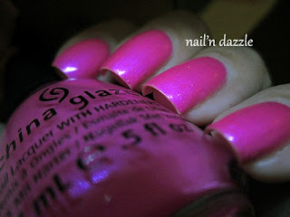 China glaze, hang ten, pink, neon, polish, bright, 10, 2012