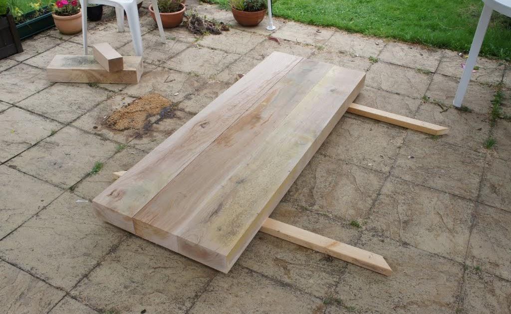 Busy being inefficient diy project oak beam garden for Oak garden furniture