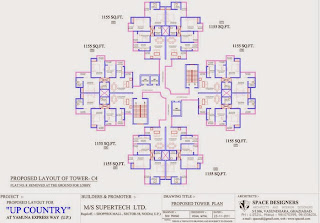 Up Country, Yamuna Expressway :: Floor Plans,Tower Plans :-TOWER C4