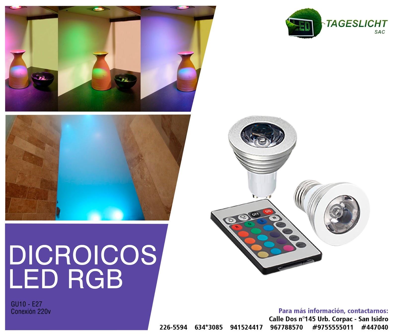 tageslicht iluminaci n led dicroico led rgb tageslicht sac. Black Bedroom Furniture Sets. Home Design Ideas