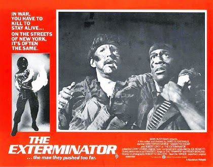 Robert Ginty and Steve James 1980 movie poster for The Exterminator