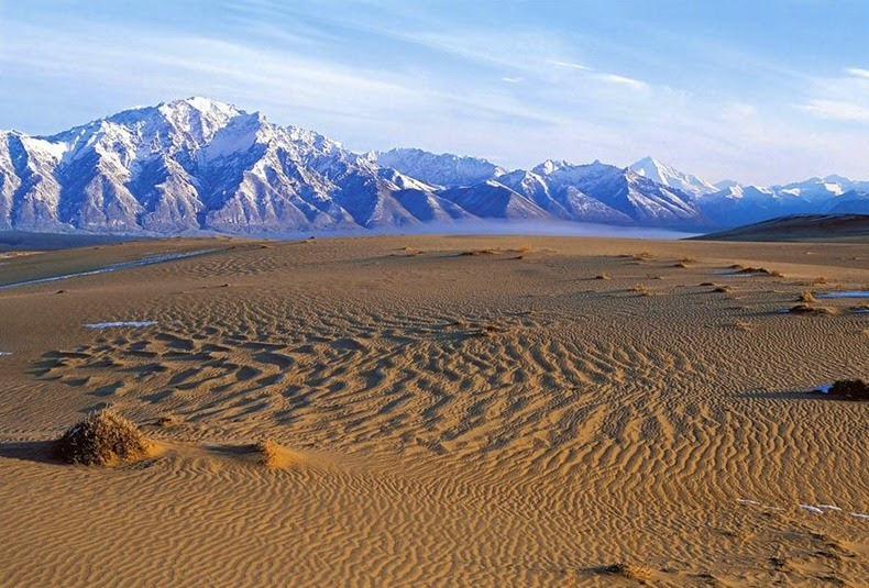 Chara Sands. Miniature Desert in the Freezing Cold of Siberia