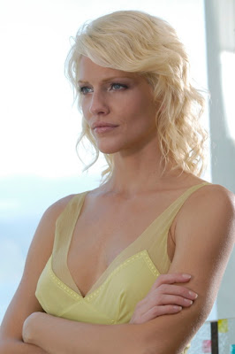 Tricia Helfer Wallpaper in Beautiful Yellow Dress
