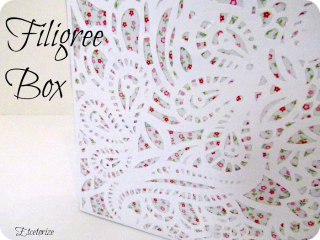 diy filigree, Silhouette project, Paper box