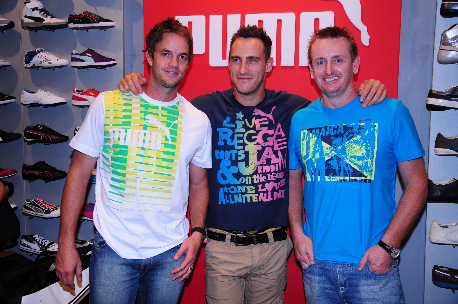 Albie Morkel with Cricketers