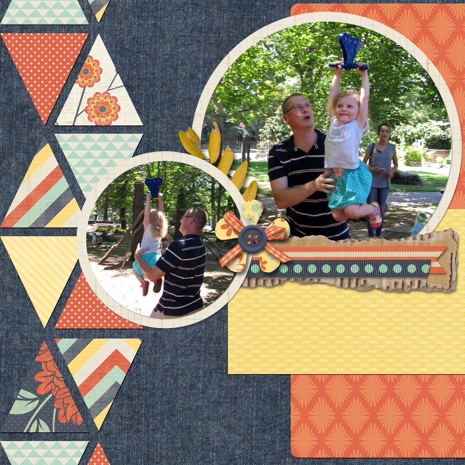 Ziplining scrapbook ideas - These Digital Scrapbook Creations Were Made Possible By Misty Cato S Empty Your Pockets Quick Pages