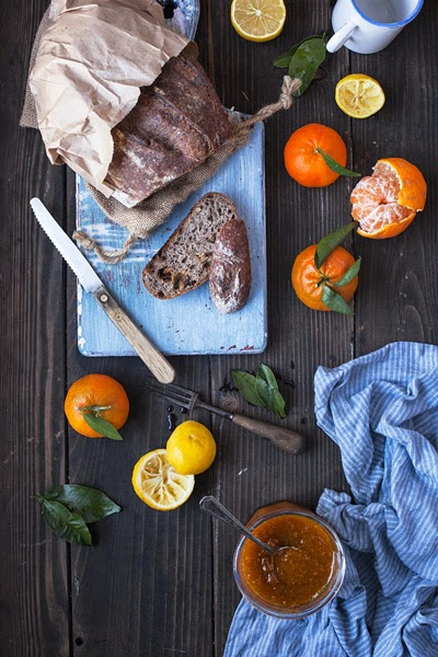 Mandarins, Jam and Bread
