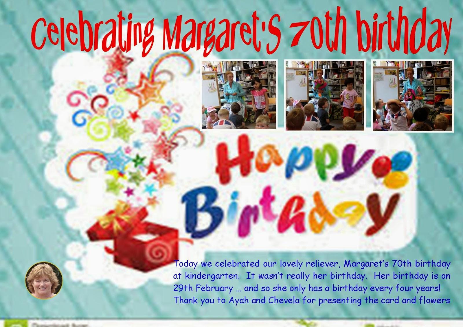 Happy birthday margaret cake