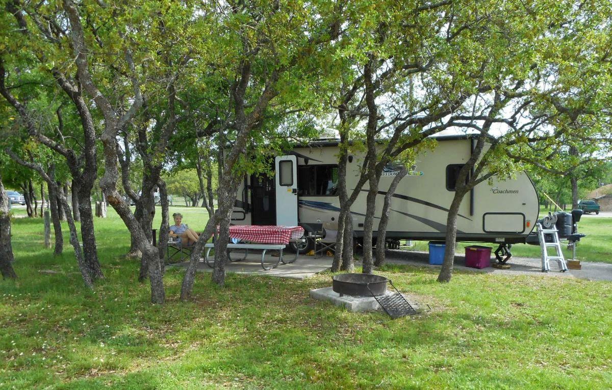 Site 83 At Lake Brownwood State Park