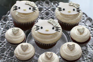 Hello Kitty cute silver cupcake