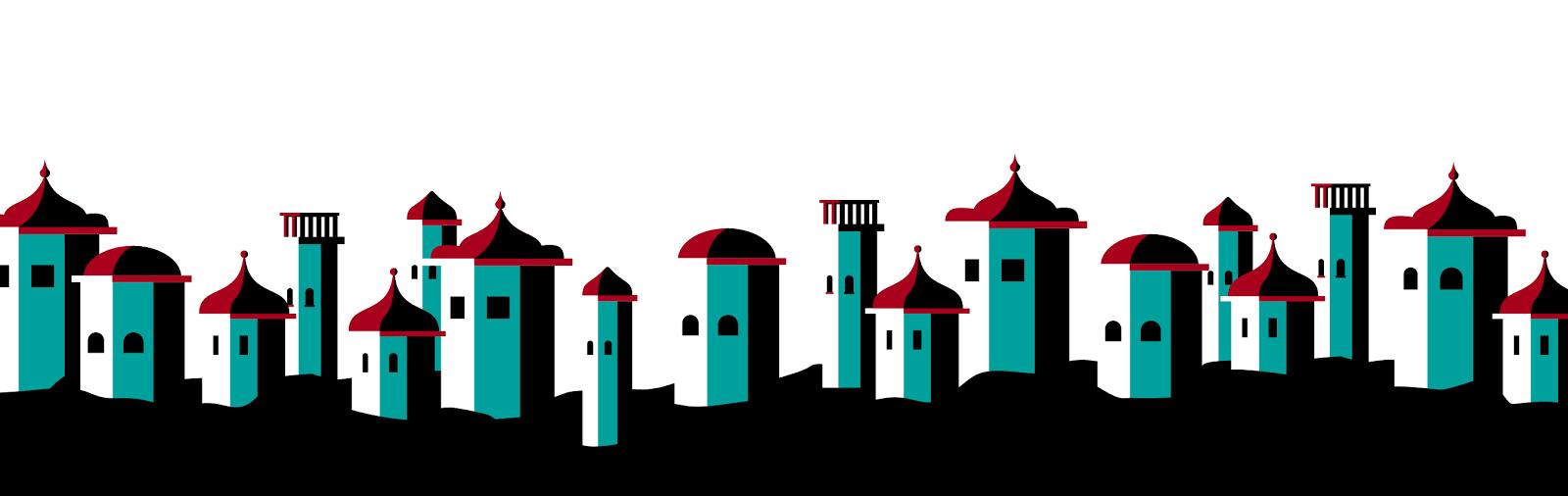 Buildings in a Line - Jen Haugan Animation & Illustration