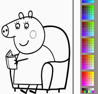 Colorindo a Mamãe Pig