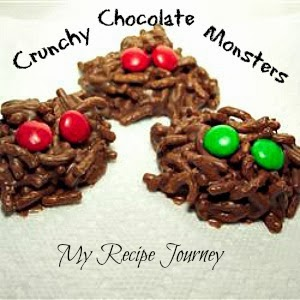 Crunchy Chocolate Monsters - Halloween Food