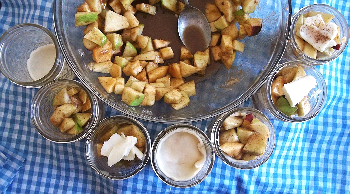 Mini Apple Pie In A Jar Process