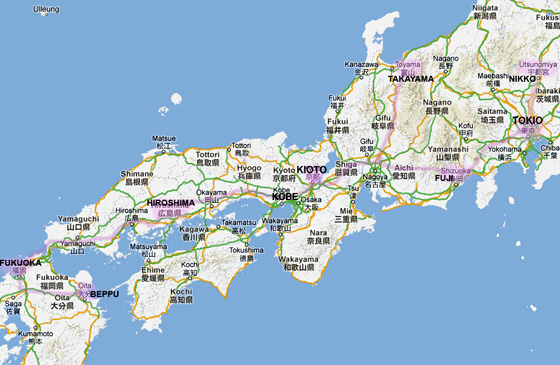 recorrido viaje Japón 2013