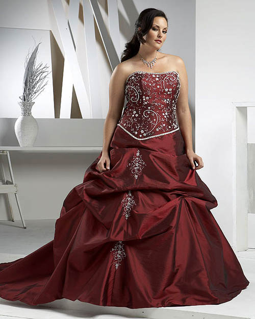 Redirecting for Plus size wedding dress with color