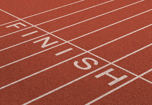 In Line Finishing : The finish line