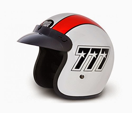 Buy Vega Jet 777 Open Face Graphic Helmet (White and Red, M) Rs. 470 only at Amazon.