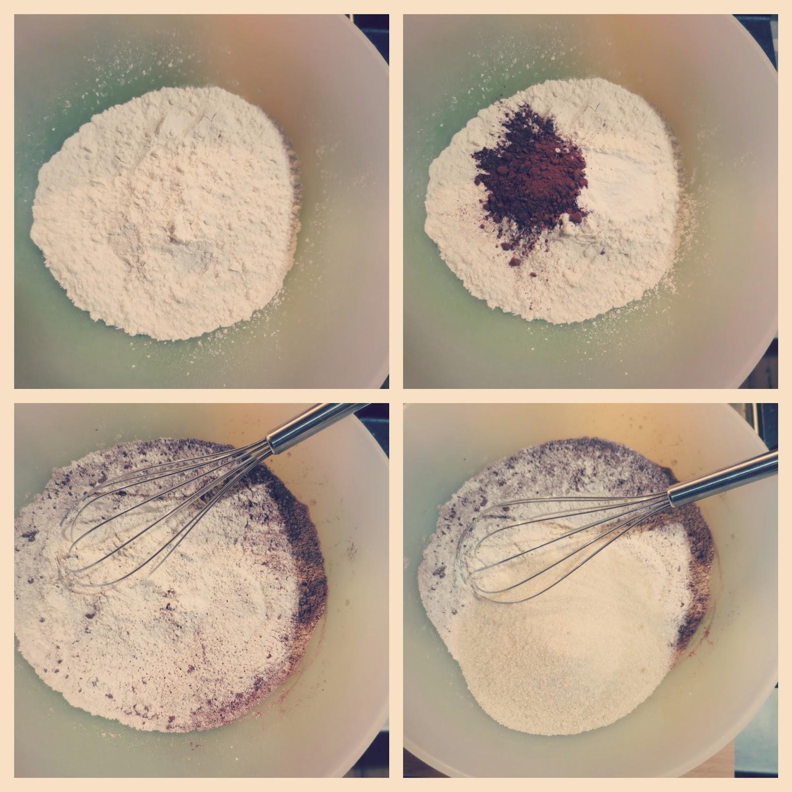 preparazione 1 brownies vegan