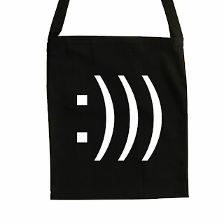 design smiley canvas tote bags