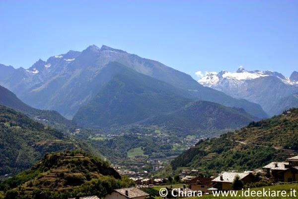 Panorama verso la valle di Cogne