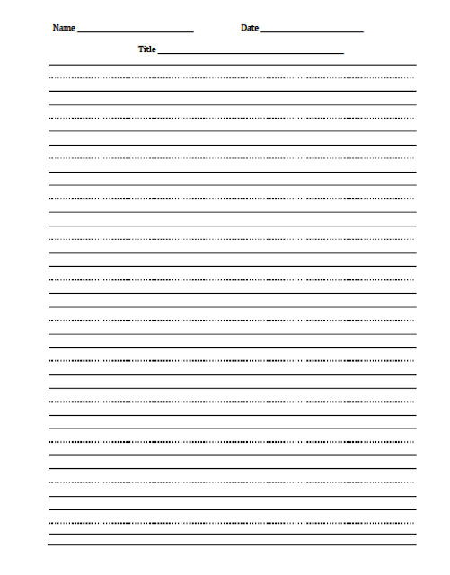 3rd grade handwriting paper Free to print this is lined paper for children to practice their handwriting it works for both print manuscript and cursive script handwriting styles there are thick lines at the top and bottom, with a dashed line in the center.