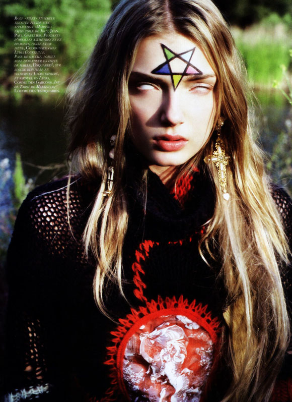 Terry Richardson Voodoo wicca satanism themed photoshoot for vogue