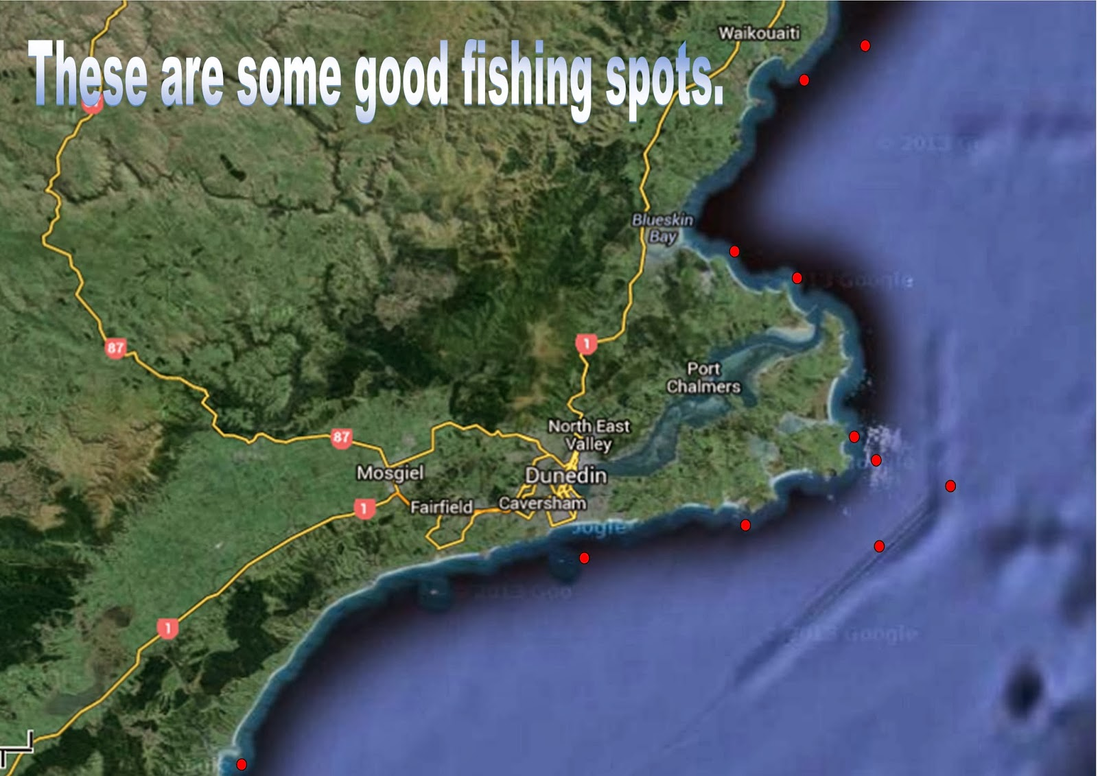 Fishing the Otago coast: Fishing Spots
