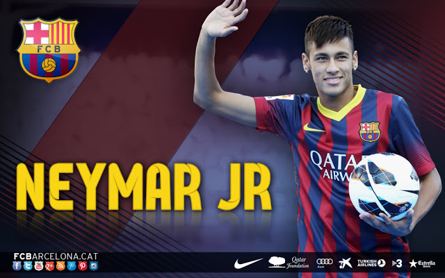 Wallpaper Neymar JR di FC Barcelona