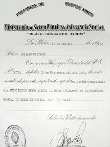 PRIMER TITULO OFICIAL REGISTRADO PARA GUARDAVIDAS