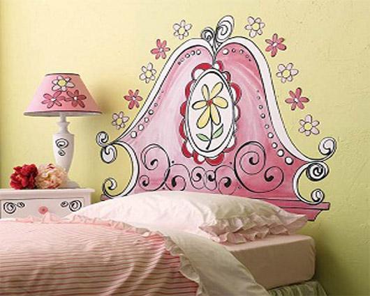Cabeceras pintadas painted headboard by dormitorios - Habitaciones de ninos pintadas ...