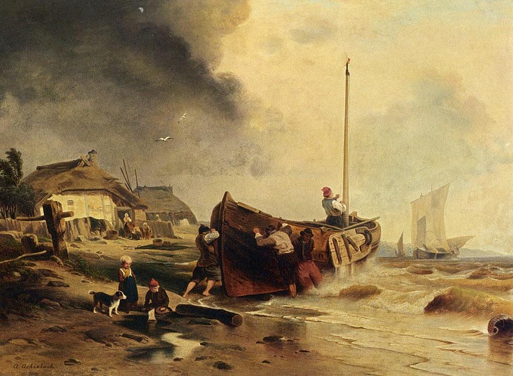 vas-de-pescuit-pe-plajă-andreas-achenbach