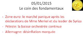 actualités bourse 05/01/2015