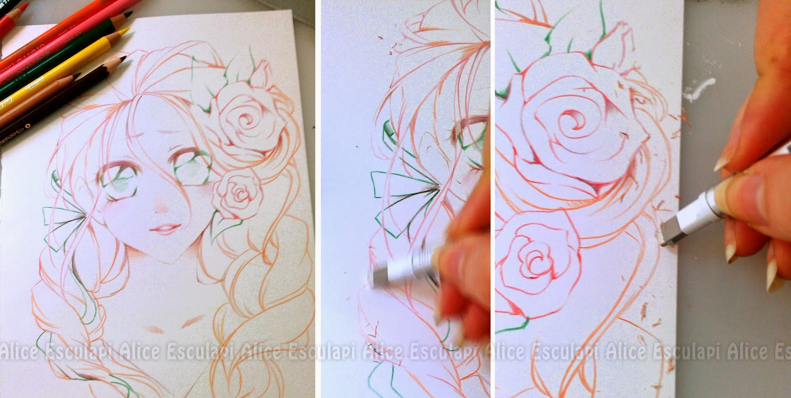 Copic italia: tutorial: lineart con matite colorate per ...