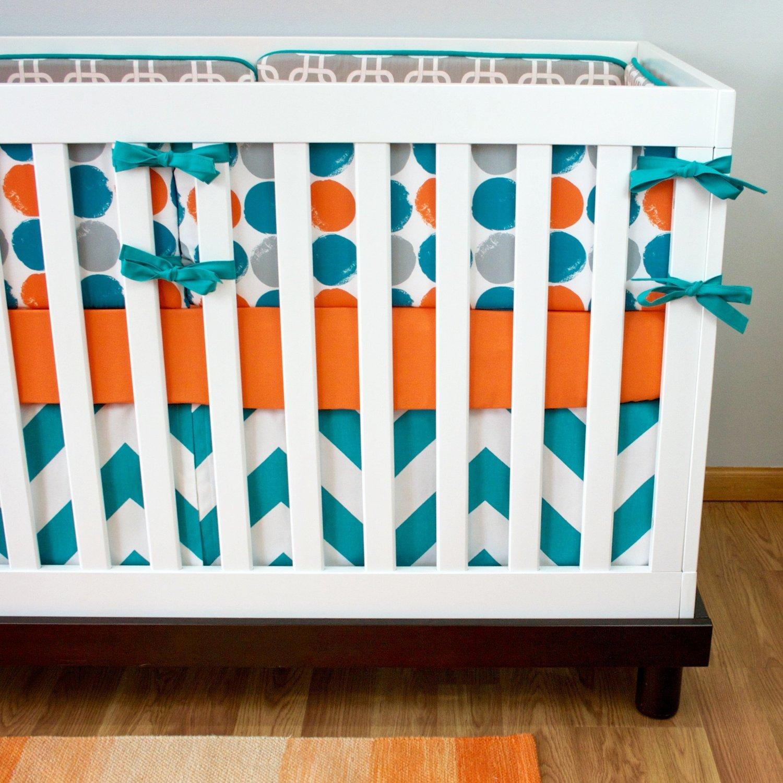 straight skirt il cotton baby market sheet teal crib cribs turquoise bedding etsy kona