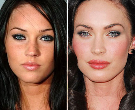 on Megan Fox did a great job at correctly structuring her nose