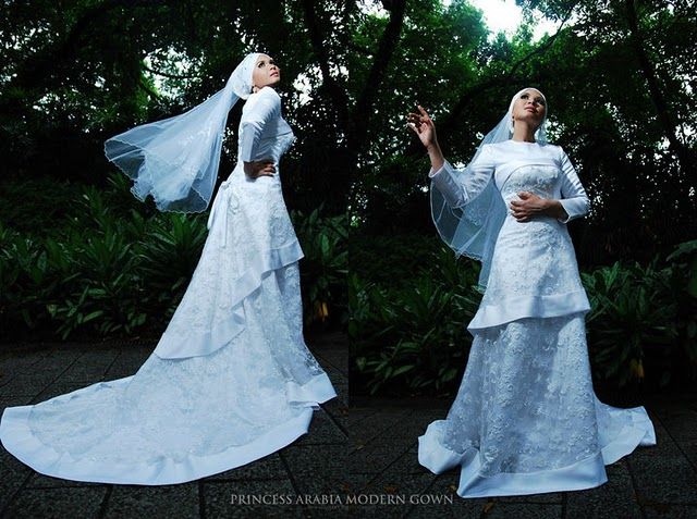 Wedding Dress Muslimah Simple : The bride wears hijab princess arabia muslimah bridal