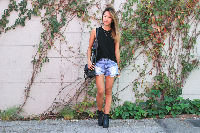 All Saints tank, grunge, Jerome Dreyfuss Twee, beautybitten